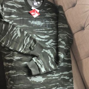 Puma camouflage sweatshirt fleece lined